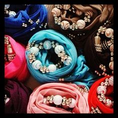 Pretty Jewellery scarves
