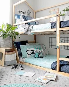 42 Fascinating Shared Kids Room Design Ideas 42 Fascinating Shared Kids Room Design Ideas - Planning a kid's bedroom design can be a lot of fun. It can also be a daunting task as you tackle the issue of storage and making things easy to clean. Kids Bedroom Designs, Kids Room Design, Design Bedroom, Ikea Kura Bed, Ikea Beds, Ikea Kura Hack, Minimalist Kids, Shared Bedrooms, Shared Kids Rooms