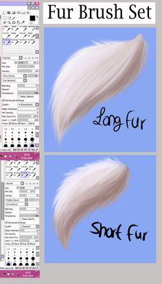 Paint Tool SAI -Fur brush set- by ArchAngelDuskandDawn.deviantart.com on @deviantART