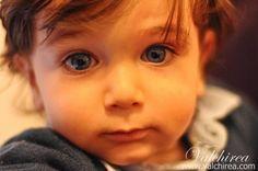 Beautiful, sweet, ice eyes, child.   Portrait by ValchiRea.com