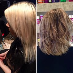 Due to home bleaching, Emma's client's hair had become over-processed and broken. A root stretch technique with TIGI's Copyright Colour toned the blonde whilst a 'lob' cut freshened up the style. An Olaplex Stand Alone treatment was the finishing touch to this transformation, restoring strength, structure and shine.
