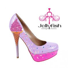 Studio Jellyfish | Sprinkles and Ice Cream - Heels 5 inch plus - Jellyfish Shoes