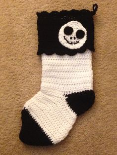 Jack Skellington crochet stocking