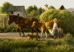 Bringing in the Hay ~ Robert Duncan-  My favorite of his paintings.