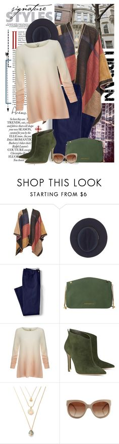 """Urban Jungle"" by lena-alpa ❤ liked on Polyvore featuring Calypso Private Label, Lands' End, Vince Camuto, Joie, Gianvito Rossi, STELLA McCARTNEY and plus size clothing"
