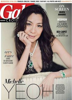 Michelle Yeoh wears ELIE SAAB Spring Summer 2016 for the cover of Gala Croisette Magazine during the 69th International Cannes Film Festival.