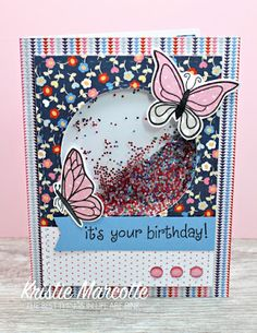 The best things in life are Pink.: My First Shaker Card