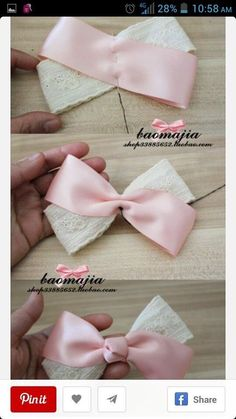 a pair of scissors and three strands of wide Stain Ribbon, you can handle this how to make hair bows plan rapidly.How to make Hair Bows - Free Hair Bow Tutorials Made the elephant for a friend and she loved it!DIY bow with simple instructions. Diy Baby Headbands, Diy Hair Bows, Making Hair Bows, Ribbon Hair Bows, Diy Bow, Diy Headband, Diy Ribbon, Ribbon Crafts, Baby Bows