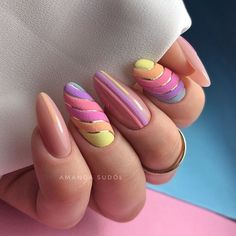 Summer Nail Designs That Are Trending for 2020 – Cocopipi Cute Acrylic Nails, Cute Nails, Pretty Nails, Oval Nails, Stylish Nails, Almond Nails, Gorgeous Nails, Nail Trends, Spring Nails