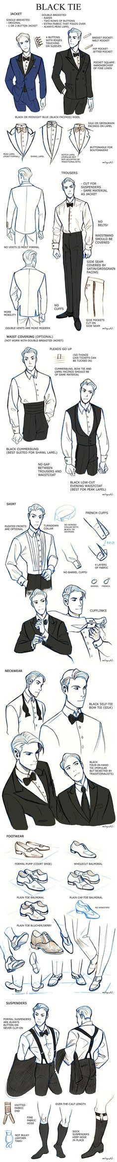 Black Tie (suit tutorial) by miyuli