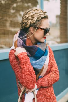 fall colors and texture with a crown braid