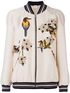VILSHENKO Embroidered Bomber Jacket. #vilshenko #cloth #jacket