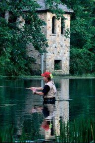 Bennett Springs State Park. If you've never made it to the opening day of trout fishing, you don't know what you're missing.