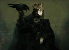 Concept art for Queen Ravenna's look in Snow White and the Huntsman
