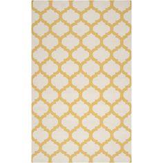 Surya's yellow lattice Frontier rug.