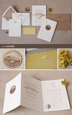 letterpress wedding invitations by Alee & Press: woods