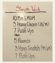 Crossfit strength