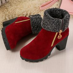 b9b9c91fa4dec Metal Printing High Heel Warm Lining Zipper Boots is hot-sale. Come to  NewChic to buy womens boots online.