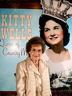 Kitty Wells Dead at 92.  Kitty Wells  The Queen of Country Music died at the age of 92 after suffering complications from a stroke. As the first successful female country star, Kitty's accomplishments include an induction into the Country Music Hall of Fame in 1976 and the Grammy Lifetime Achievement Award as the third country music artist (and eighth woman) so honored