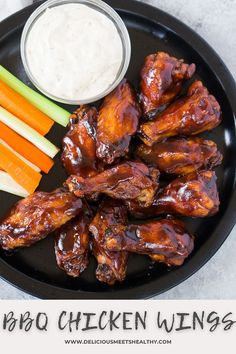 These wings are finger lickin' good! These oven baked BBQ chicken wings are great to serve as an appetizer and they require very little prep! Easy Bbq Recipes, Best Appetizer Recipes, Best Appetizers, Healthy Chicken Recipes, Party Recipes, Turkey Recipes, Duck Recipes, Tailgating Recipes, Amazing Recipes