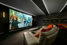 Imax for the home. The screen takes up the whole wall!
