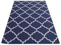 Elizabeth Handwoven Wool Dark Blue Rug