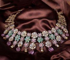 Jewelry Design Earrings, Beaded Jewellery, Diamond Jewellery, Bead Jewelry, Stone Jewelry, Jewelry Accessories, Beaded Necklace, Indian Jewellery Design, Jewellery Designs
