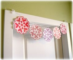 Valentine snowflakes made with coffee filters