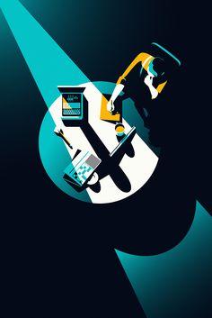 Malika Favre ilustró con su estilo minimalista los carteles de 6 filmes…