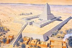 Солнечный храм фараона Ниусерры в Абу-Гурабе 25 век до н.э Ancient Egyptian Architecture, Sacred Architecture, Historical Architecture, Pyramid Of Djoser, Le Sphinx, Egypt Map, Village Map, Art Courses, Ancient Architecture