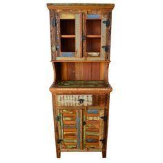 Armário de cozinha madeira de demolição- 1589 - #arte #moveis #rusticos - www.artemoveisrusticos.com.br