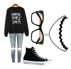 """Collette"" by williamskaitlyn-kw on Polyvore featuring River Island and Converse"