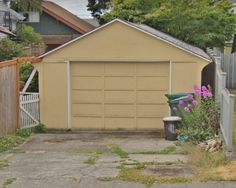The garage before.  Summer Guest Writer: Dan's Garage Rebuild - My Sweet Cottage