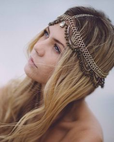 chain headpiece by frankly my dear Couple Photography, Wedding Photography, Boho Wedding, Wedding Day, Chain Headpiece, Artist Profile, Bridal Beauty, Hair Pieces, Bride Groom