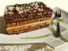 Prajitura cu nuca si foi de napolitane cu caramel, este asemanatoare cu Prajitura Snickers, dar mai complexa si mai putin dulce. Este o prajitura tare gustoasă, aspectuoasa și mai ales, spornica! Merita preparata la zile festive, sau de sarbatori.
