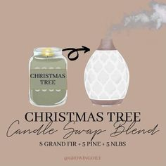 Grand Fir, Christmas Tree Candles, Christmas Planning, Candle Diffuser, Oil Candles, Diffuser Recipes, Young Living Oils, Oil Uses, Diffuser Blends