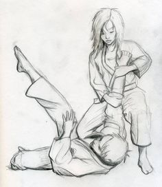 Bjj girls, bjj art, bjj sketch, Brazilian Jiu Jitsu, tough girls