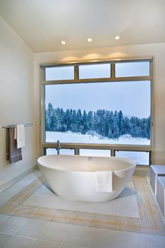Unbelievable warm bath while outside snowing. I want that. Can we also adjust the lights?