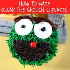 We walk you through step-by-step directions on how to make Oscar the Grouch cupcakes for a Sesame Street Birthday Party.