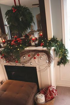 I Had Only One Objective For This Years Living Room Christmas Mantel. Keep  The Grapevine Garland That I Used For My Thanksgiving Mante. Part 66