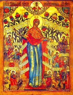 "Znalezione obrazy dla zapytania Icon of the Mother of God ""The Joy of All Who Sorrow"" Byzantine Art, Byzantine Icons, Religious Icons, Religious Art, Day Of Pentecost, Lives Of The Saints, The Transfiguration, Christian Artwork, Catholic Saints"