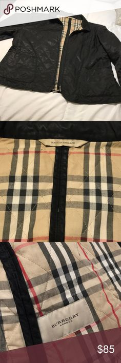 Authentic Burberry jacket Well worn, has some strings hanging from the coat, size large Burberry Jackets & Coats