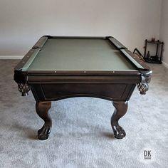 Done Installing This Foot Delmo Pool Table Simonis Black - Delmo pool table