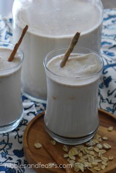 Agua de Avena - Nibbles and Feasts