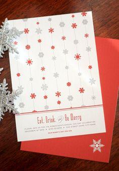 Invites Holiday Invitations, Diy Invitations, Invites, Holiday Parties, Holiday Decor, Winter Wonderland, Snowflakes, Unique Jewelry, Handmade Gifts