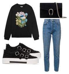 """""""Untitled #3887"""" by evalentina92 ❤ liked on Polyvore featuring 10 Crosby Derek Lam, Christopher Kane, Alexander McQueen and Gucci"""