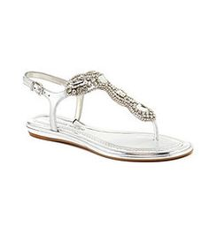 Antonio Melani Anabele Jeweled T-Strap Sandals
