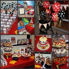 boy birthday party firetruck ideas