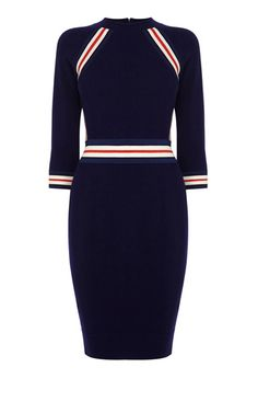 Knit dress w/ stripe details - Karen Millen