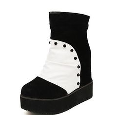 37.99  Women s Shoes Round Toe Wedge Heel Ankle Boots with Split Joint  More Colors available 7967cdfe96b2e